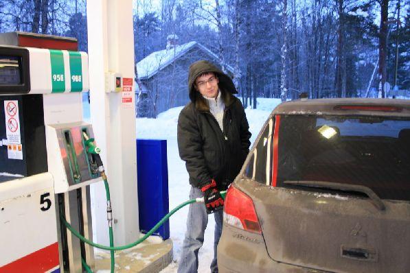 Бензин в Финляндии довольно дорогой!