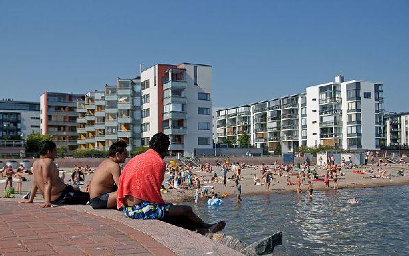 Ауринколахкти находится в городской черте, поэтому до него очень удобно добираться.