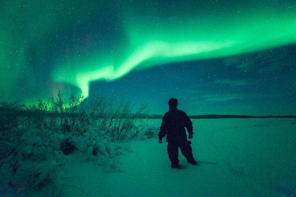 Увидеть северное сияние - настоящая удача и большое счастье.