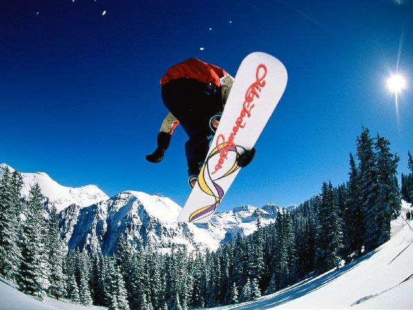 На Химосе созданы великолепные условия для сноубординга.