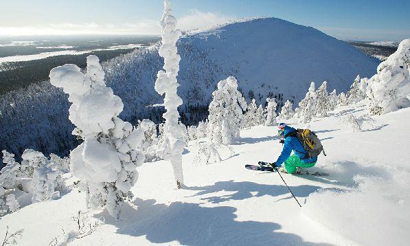 Юлляс - один из крупнейших горнолыжных курортов северной Финляндии.