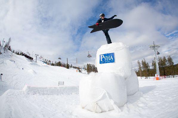В Пюхе частенько проходят соревнования по зимним видам спорта.