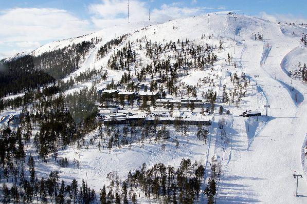 На Пюхе - один из самых продолжительных горнолыжных сезонов во всей Финляндии.