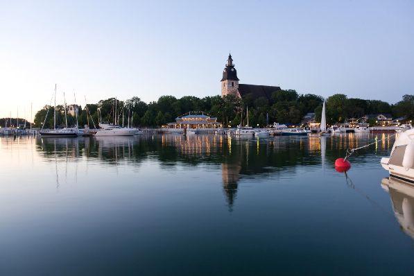 Вид на городок Наантали, в котором создана волшебная Мумиландия - тематический парк с персонажами писательницы Туве Янссон.