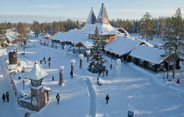 Вид на деревню финского Деда Мороза.