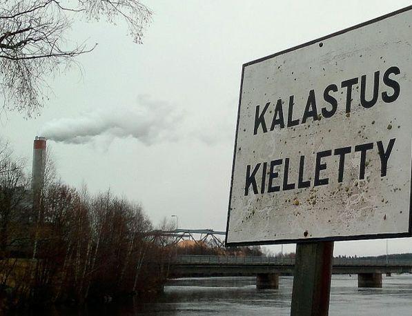Запомните этот знак, он предупреждает о запрете на ловлю рыбы.
