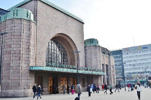 Центральный железнодорожный вокзал в городе Хельсинки