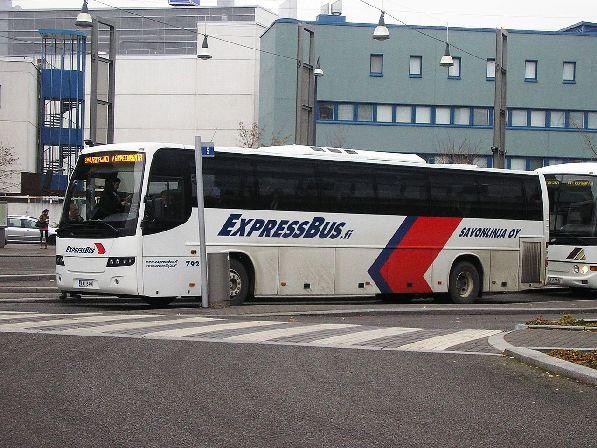 Автобус транспортной компании ''Savonlinja'' курсирует  в двух направлениях: Питер - Лаппеенранта, Питер - Хел