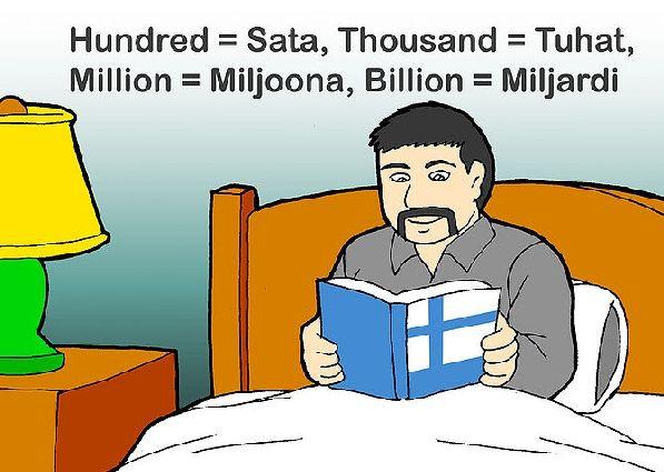 В Финляндии два государственных языка, но всё же больше распространён финский язык.
